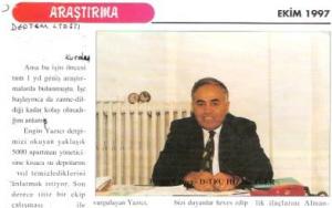 Su depoları hakkında 1997 yılında yazılmış bir makal