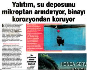 Hürriyet Gazetesinde çıkan su deposu haberi